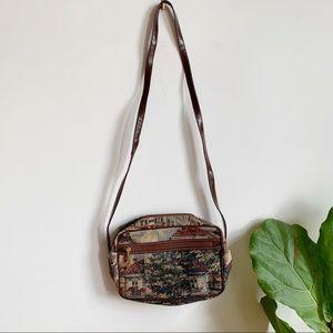 Vtg Cabrelli Tapestry Crossbody Bag Shoulder